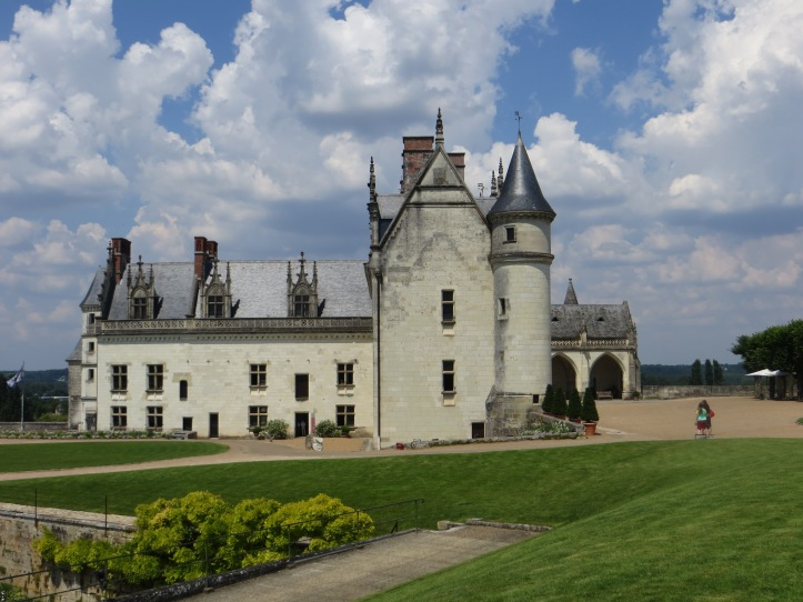 The Chateau of Amboise, from the courtyard