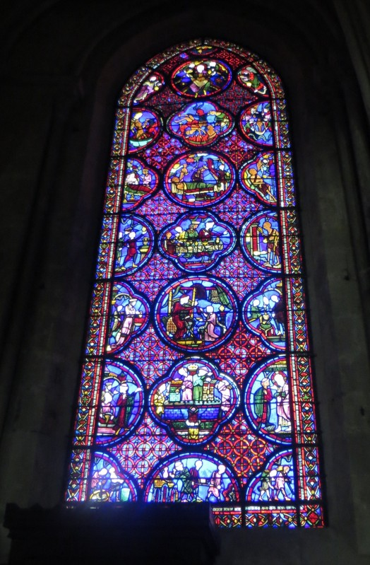 Stained glass in Bourges Cathedral