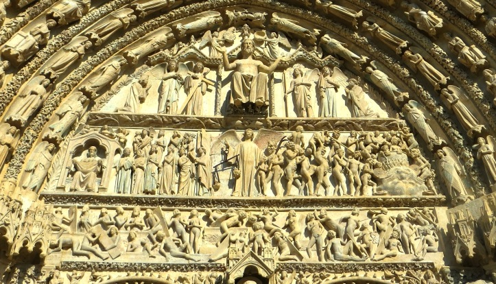 Tympanum over the West Door, Judgement Day