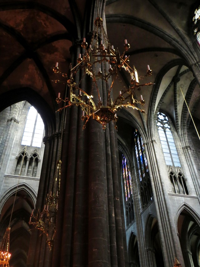 The interior of the cathedral in Clermont Ferrand