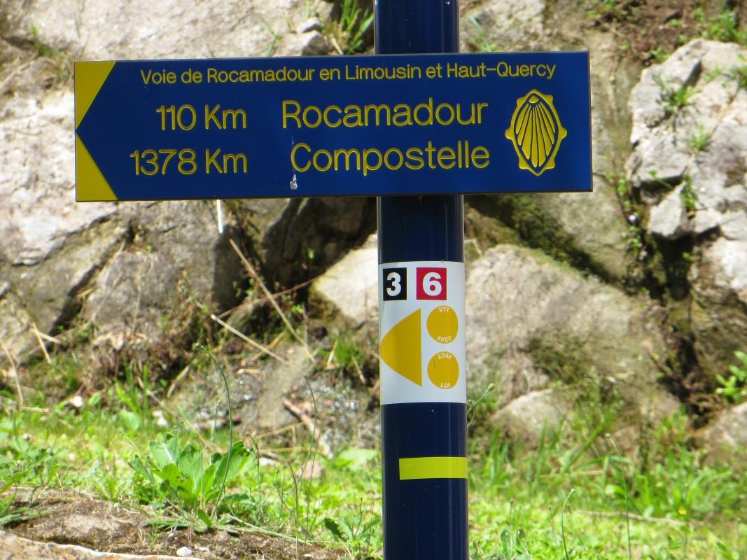 Sign at Notre Dame du Pont du Salut