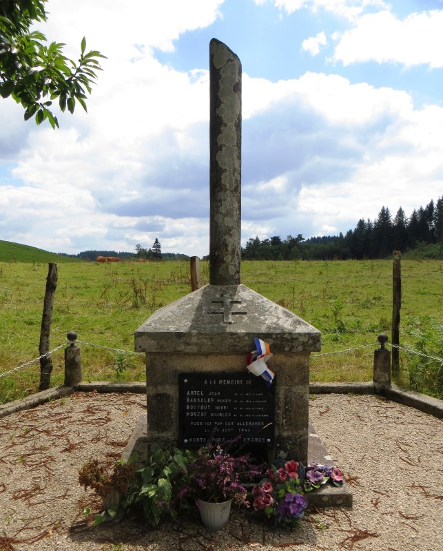 Memorial to French Resistance fighters near Vitrac sur Montane