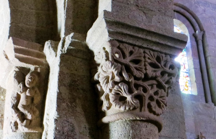 Capitals inside the Abbey of Saint Martin