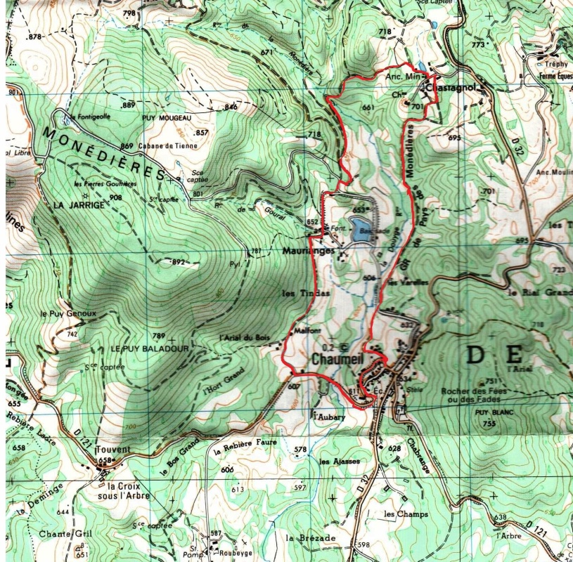 Map of Chaumeil 001