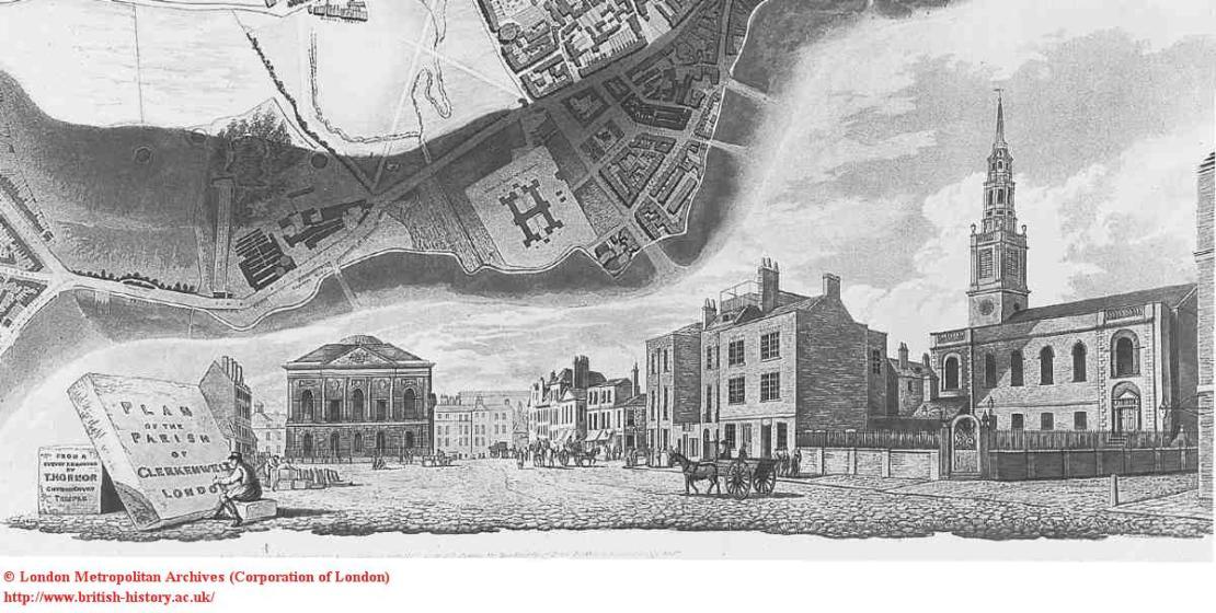 Clerkenwell Green, 1813  British History online)