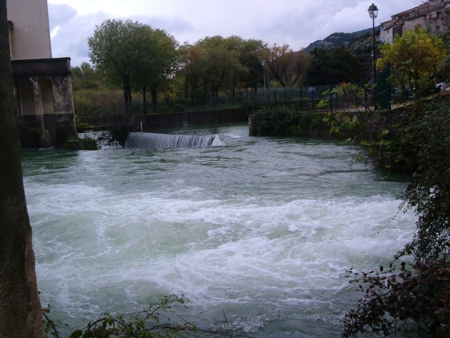 The Vidourle in Sauve in 2008
