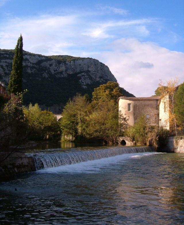 The Vidourle in St Hippolyte du Fort