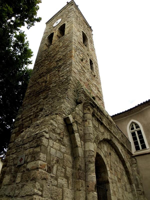 The 12C clock tower of St Jean du Gard