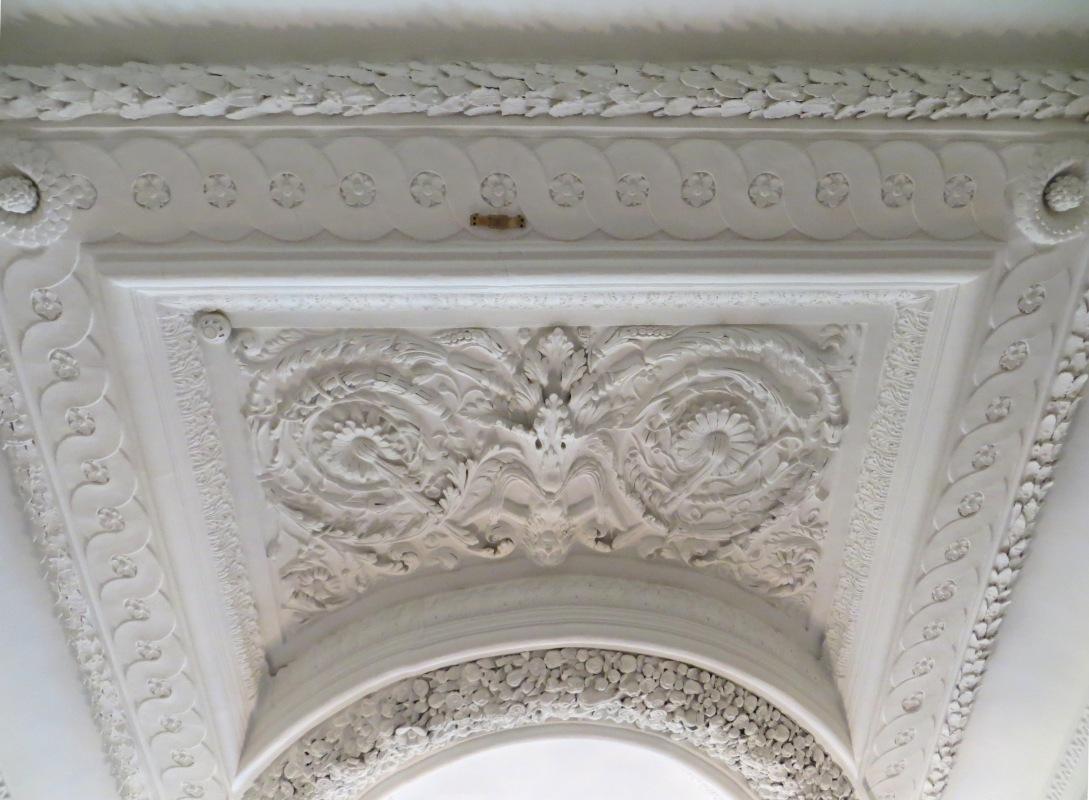 Plasterwork over the stairwell, Eltham Lodge