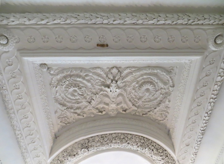 Plasterwork over the stairwell, Eltham Lodge