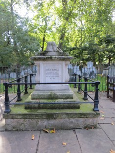 John Bunyan's tomb in Bunhill Fields burial ground