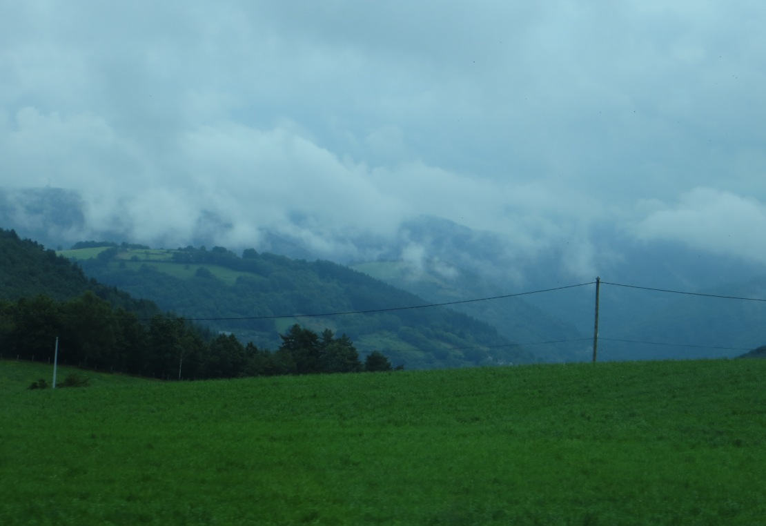 Mist over the hills above Aurillac