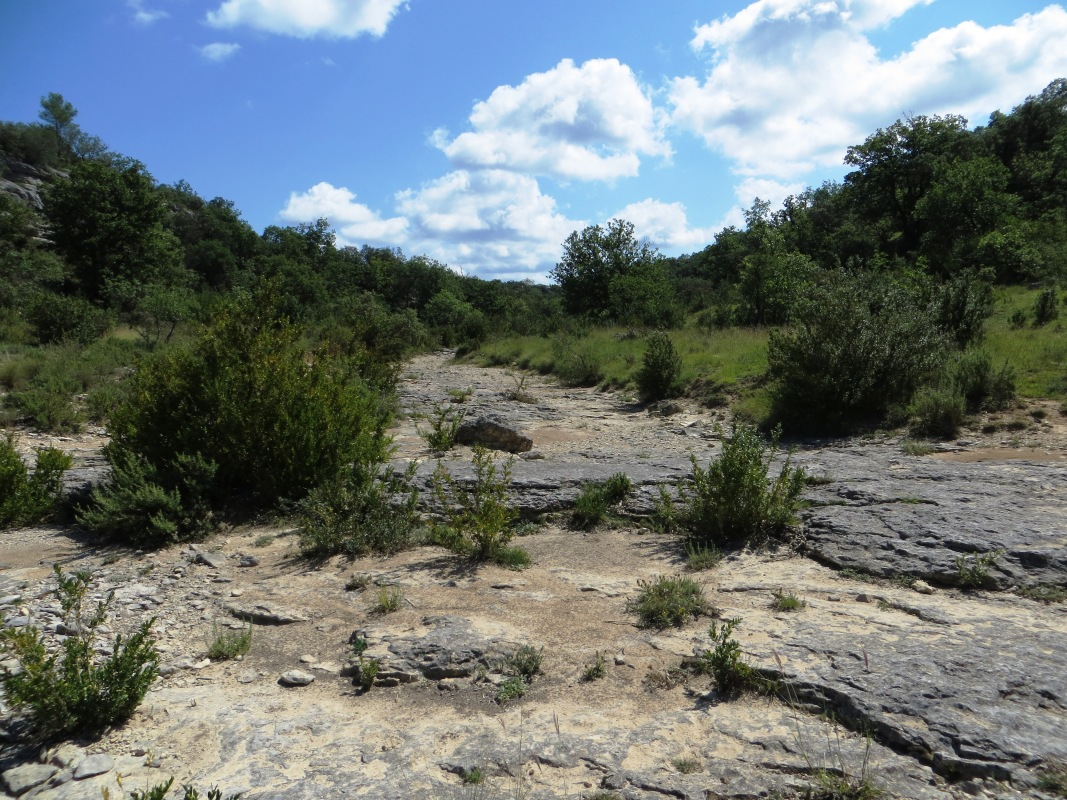 Dry river beds