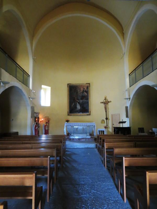 Interior of 11C church, Claret