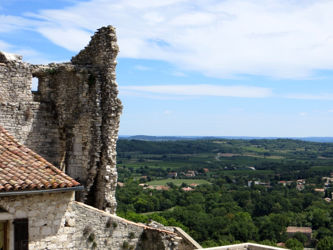 The Chateau Fay Peraut and views over the plain