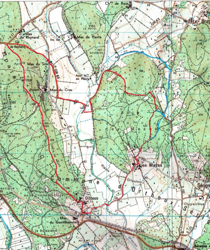 Carte de Randonnnee 2841 O