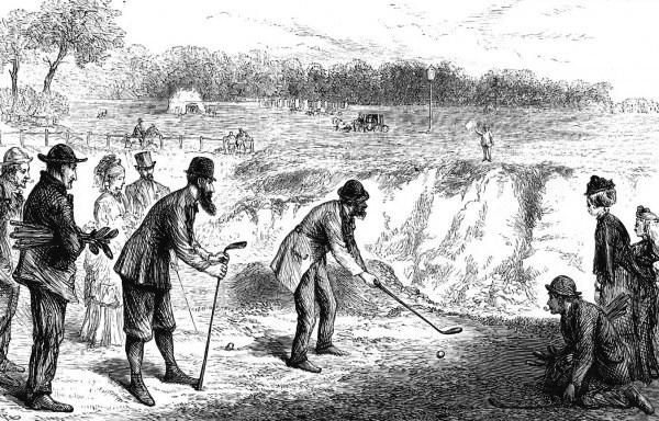 Golf on Blackheath, 1874, by F A Gilbert