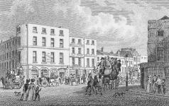 The rebuilt Angel Inn, 1828