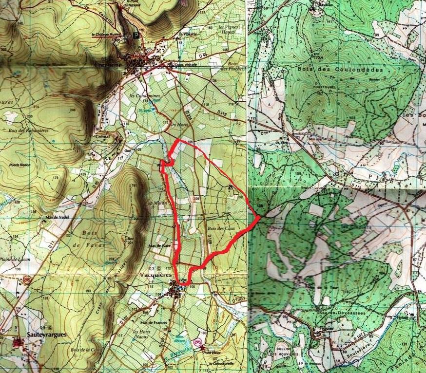Vacquieres map