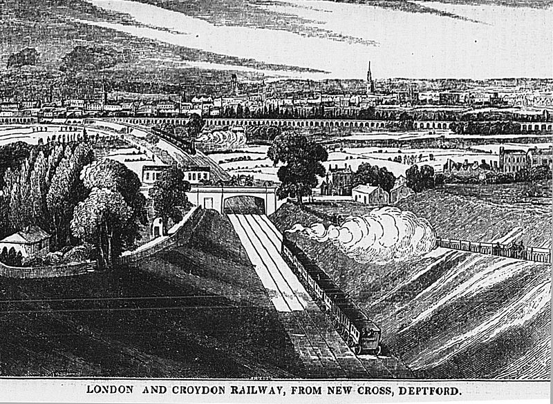 London & Croydon, and London & Greenwich Lines, c.1840 (Wikipedia)