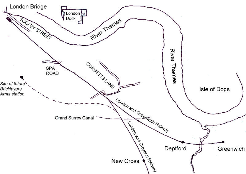 London & Greenwich Railway, 1840 (Wikipedia)