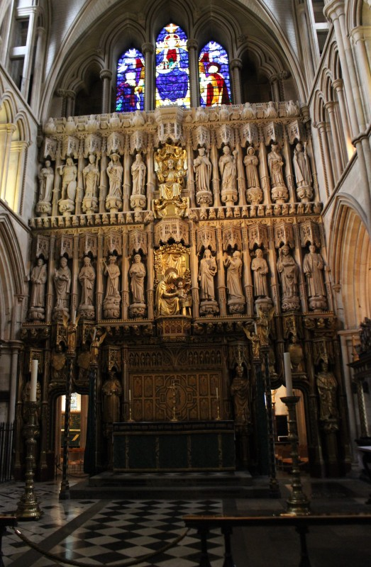 The saints screen in the Choir