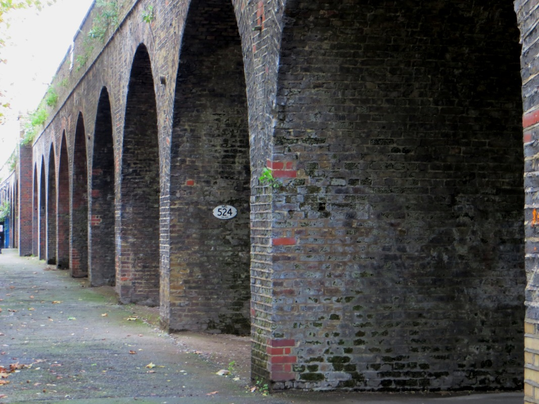 The railway viaduct in Deptford today