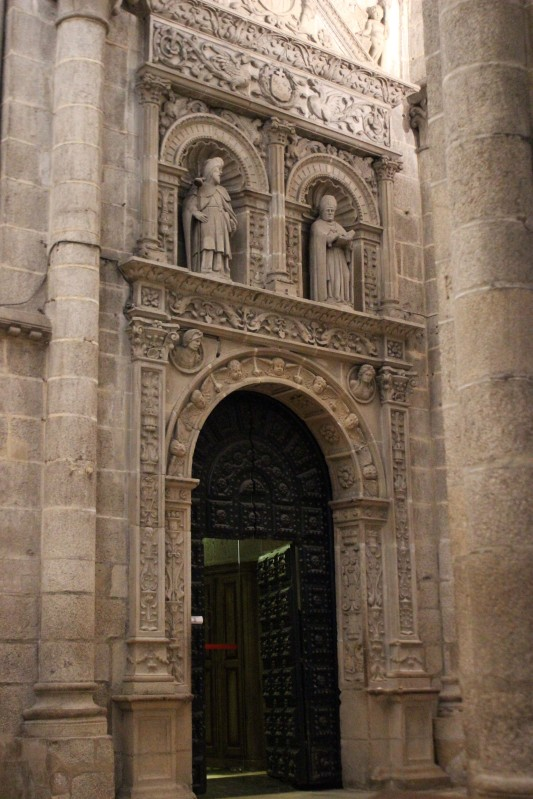 The doorway into the cloister