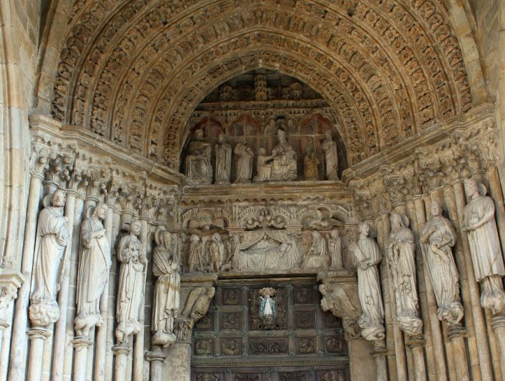 The main door of the Cathedral of Tui, 1210-25