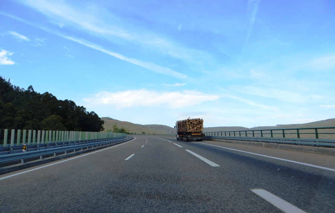 The motorway from Porto to Spain
