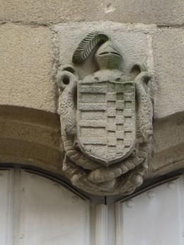Crest on a mansion