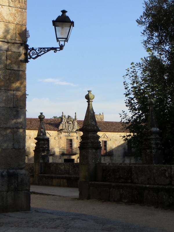 Ffinans Square, Cambados, in the evening light