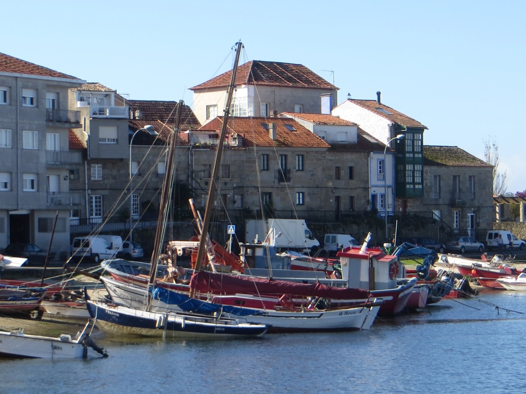 Fishing boats in the harbour, Cambados