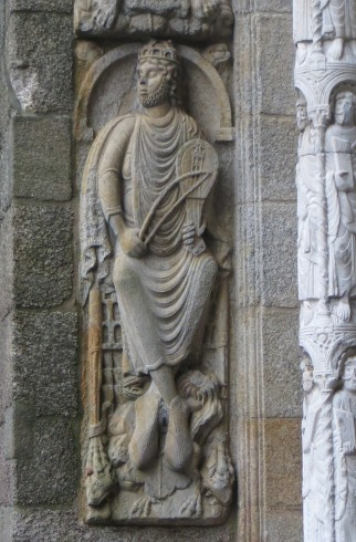King David by Master Esteban, North Door, Santiago Cathedral