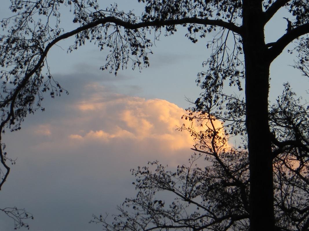 Evening sky at the Minho River