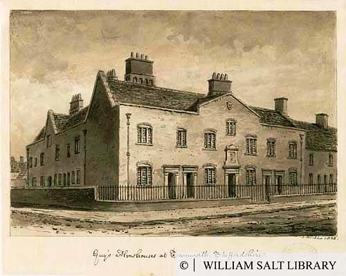Guy's Almshouses, Tamworth (The Staffordshire Views Collection)