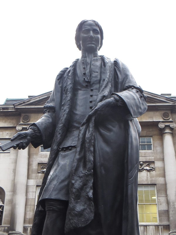 Sir Thomas Guy in the Courtyard of Guy's Hospital