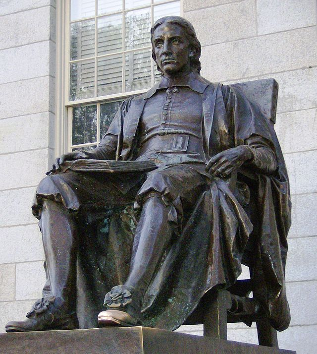 Statue of John Harvard, Harvard University (Wikipedia)