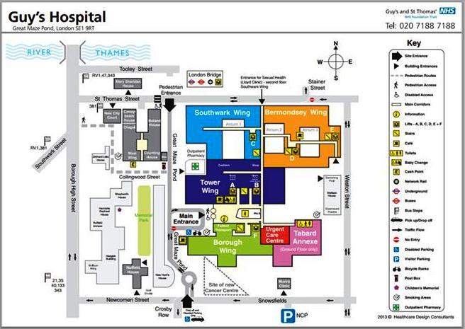 Plan of Guy's Hospital