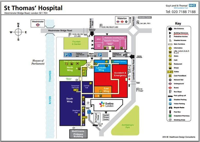 St Thomas Hospital plan