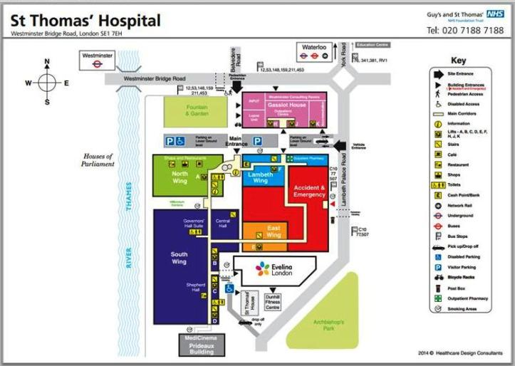St Thomas Hospital plan