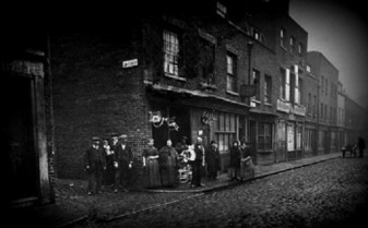 Tabard Street at the corner with Law Street
