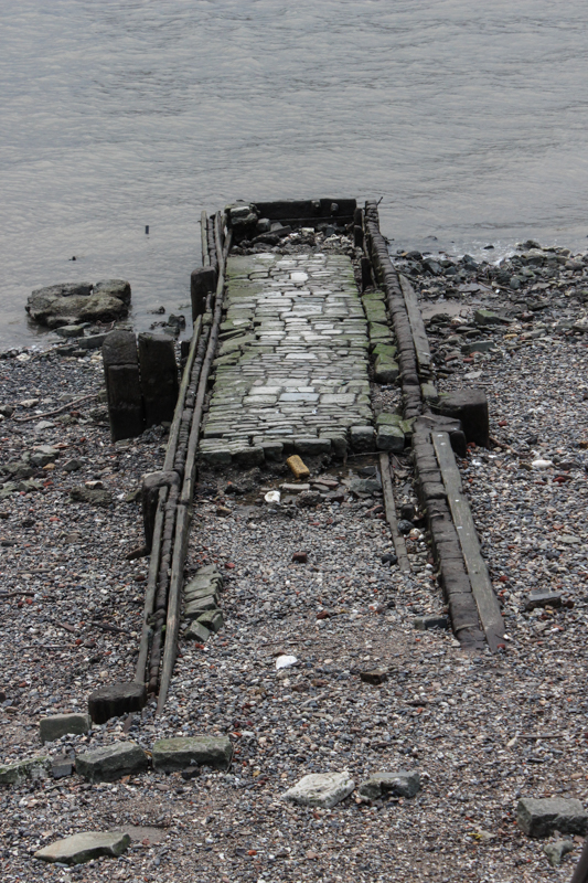 The remains of Old Barge House Stairs? (next to the OXO Tower)