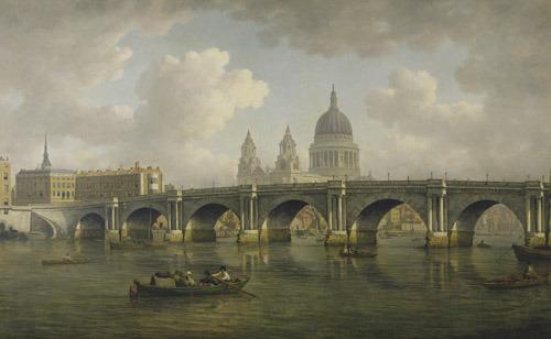 Blackfriars Bridge, 1788 (www.londonhistorians.wordpress.com)
