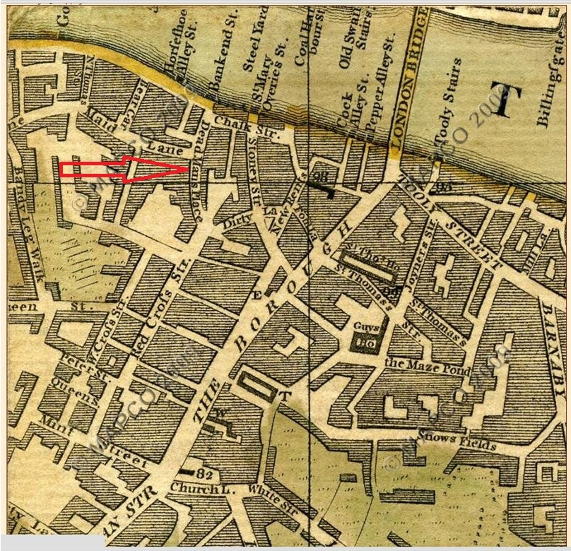 Bowles Plan of London 1775, with Deadman's Place (Mapco)