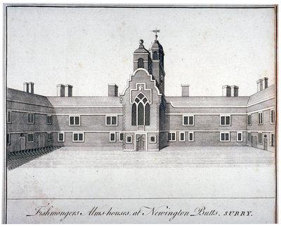 Fishmongers Almshouses, Newington Butts, c.1840