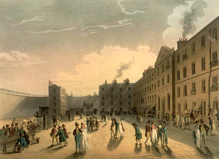 King's Bench Prison, 1808-11, by Pugin & Rowlandson (Wikipedia)