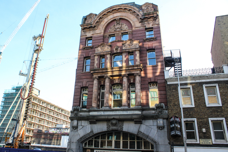 The remains of the Necropolis Railway Station today, at 121 Westminster Bridge Road