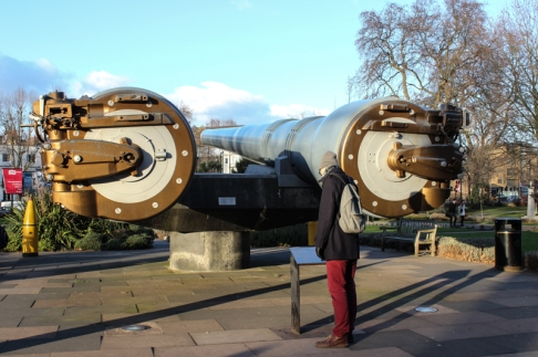 15 inch guns outside the IWM