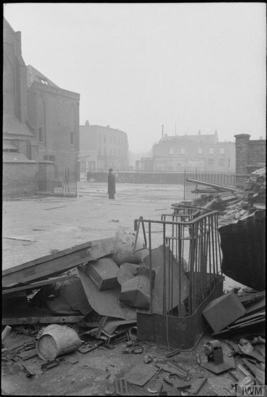 Bomb damage at St George's Cathedral,  © IWM (D 6732)